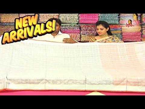 Gray Color Checks Design Lenin Fancy Saree | New Arrivals | Vanitha TV