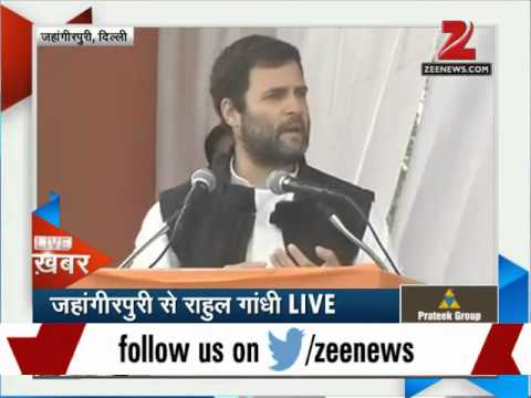 Rahul Gandhi hits out at PM Modi at Delhi rally