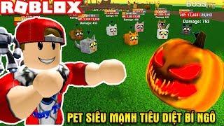 ROBLOX   Nuôi Full Pet Siêu Khủng Đánh Bí Ngô Mặt Quỷ Te Tua Tơi Tả   🐺 PET WARS! 🐺   Vamy Trần
