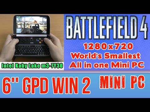 GPD WIN 2 Battlefield 4 (PC) on Handheld Mini PC - 256 GB SSD 8GB RAM Intel m3-7Y30 HD 615