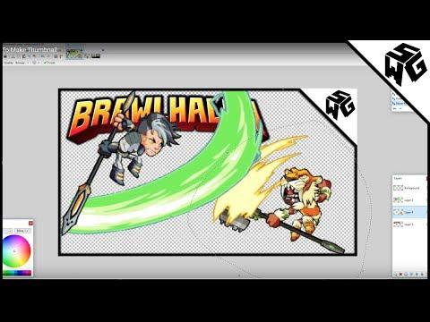 How I Make My Brawlhalla Thumbnails!