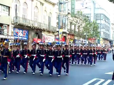 Desfile 19 de Junio de 2009, Escuela Militar. Marcha
