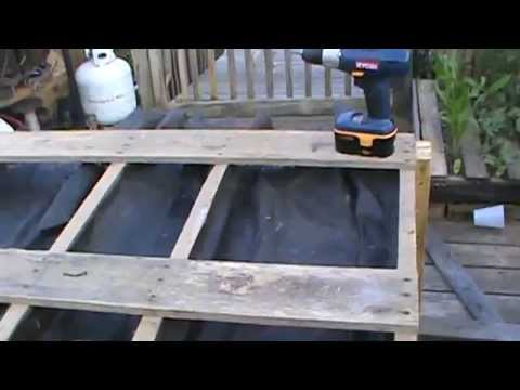 How to build a table raised bed garden from recycled pallets