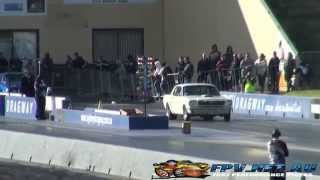 PET289 8 SEC TURBO V8 MUSTANG AT SYDNEY DRAGWAY 29.6.2014