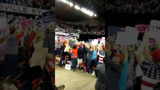 President Trump Enters Louisville Rally and the Crowd Goes Bonkers 3/20/17