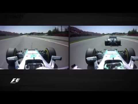 Onboard Spanish GP 2016 F1 Crash Hamilton and Rosberg