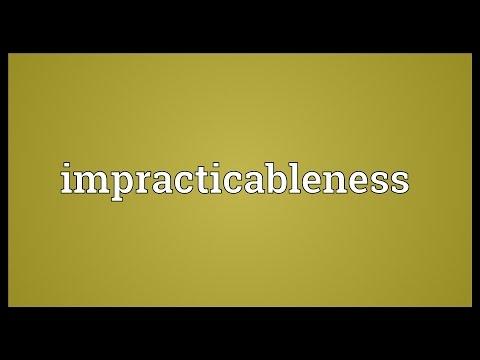 Header of impracticableness