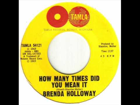 Brenda Holloway - How Many Times Did You Mean It.wmv