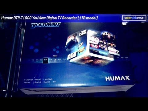 Humax DTR-T1000 / DTR-T1010 YouView Digital TV Recorder (1TB) - Unbox with Steve
