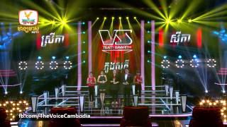 The Voice Cambodia - ស្រីកា VS សុភី VS សីុកា - បេះដូង 100 - 14 Sep 2014