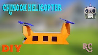 How To Make RC Chinook Helicopter   Bicopter drone at home
