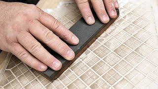 Can A Ceramic Tile Flatten A Sharpening Stone?