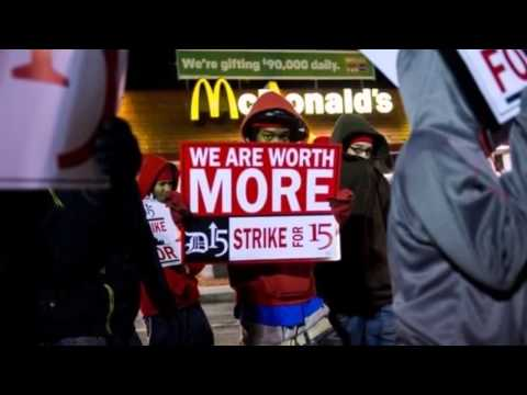 US Fast Food Worker Protests Expand to 190 Cities: BREAKING NEWS