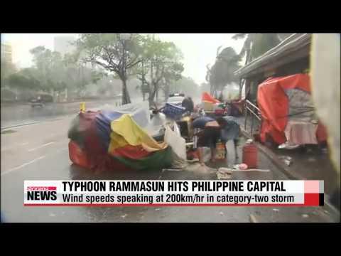 Typhoon Rammasun forces mass evacuations in Philippines