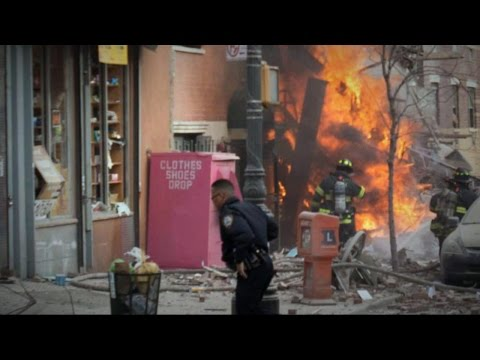 New York Building Fire: Explosion and Flames in East Village