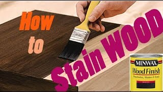 How To Stain Wood   AMAZING Results!! #diy #finish