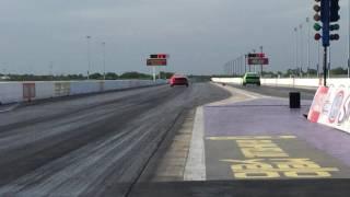 2015 Mustang GT vs Hellcat Challenger Quarter Mile Drag Racing