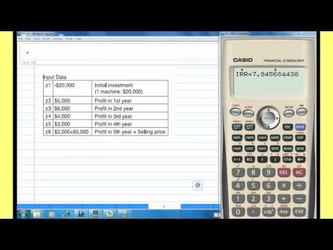 Internal Rate of Return. IRR with CASIO Financial calculator
