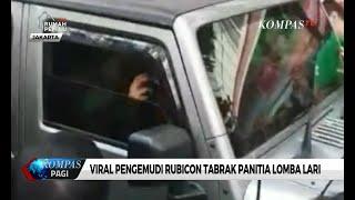 Viral! Pengemudi Rubicon Tabrak Panitia Lomba Lari