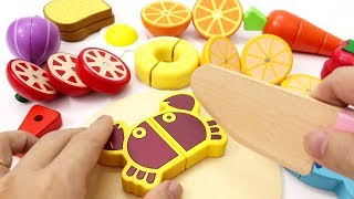 Learn Fruits Vegetables Food for Kids Toy Cutting Food Educational Video for Children Toddlers
