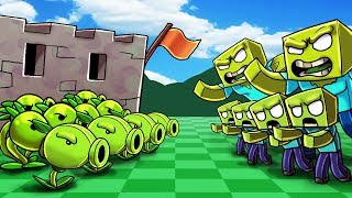Minecraft | PLANTS VS ZOMBIES BOSS CHALLENGE! (ZOMBIE BOSS ATTACKS)