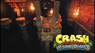 Crash Bandicoot N. Sane Trilogy - Gameplay de Temple Ruins al 100%