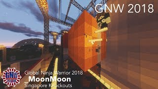 _MoonMoon at the Singapore Knockouts Course - Global Ninja Warrior 2018