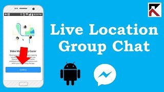 How To Share Live Location To A Group Facebook Messenger Android