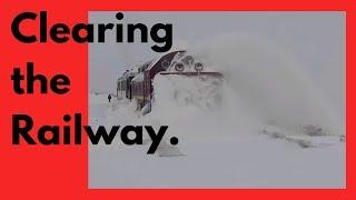 Clearing the Railway (HD, 1080p) - Train snowblower - Snow Train