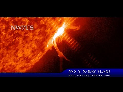 Magnitude M5.9 X-ray Flare 2013 June 07 Peak 2249 UTC
