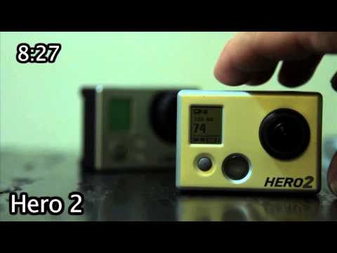 Tip #35 GoPro - Battery Life Hero 3 vs Hero 2 with LCD BacPac (standby mode)