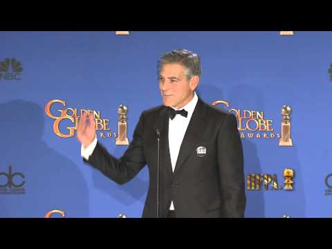 George Clooney Golden Globes 2015 Press Room Interview