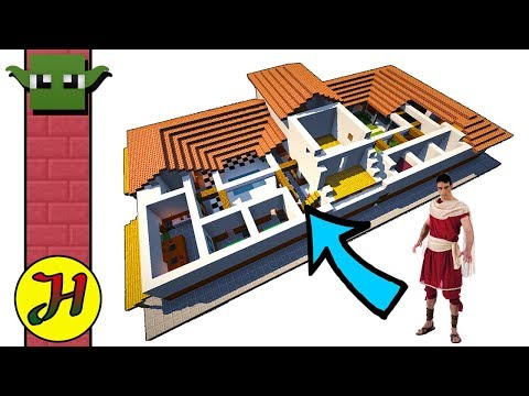 Minecraft Roman Villa - Tutorial - How to Build a House in Minecraft