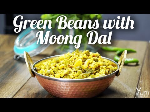 Green Beans with Moong Dal | How to make Green Beans with Moong Dal Recipe