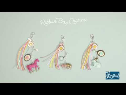 Quick DIY Ribbon Bag Charms | Fashion Accessories with Offray® Ribbon - YouTube