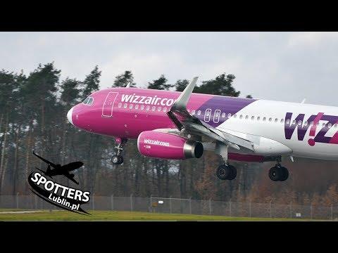 Wizz Air A320 HA-LYL - Lądowanie W Lublinie