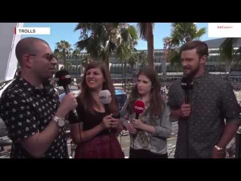 Anna Kendrick & Justin Timberlake IGN Live SDCC 2016 Trolls Interview