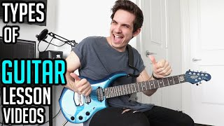 10 Types of Guitar Lesson Videos
