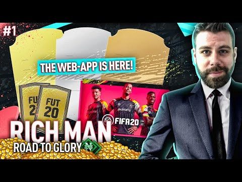 NEW SERIES! NEW BEGINNING! WEB APP! PACKS! SBCS! - RICH MAN ROAD TO GLORY #1 - FIFA 20 Ultimate Team