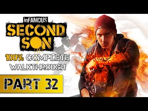 inFAMOUS: Second Son   100% Complete Walkthrough PART 32 - All Blast Shards/ Districts / Missions