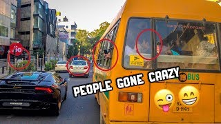 People going crazy after seeing a Lamborghini * reactions * ( Supercars in India )