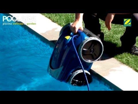 C mo funciona un robot limpiafondos de piscina zodiac vortex youtube - Robot para piscinas ...