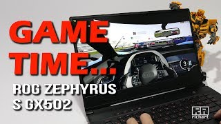 Thin Gaming Laptop 240hz Screen Heat FPS - ASUS ROG Zephyrus S GX502