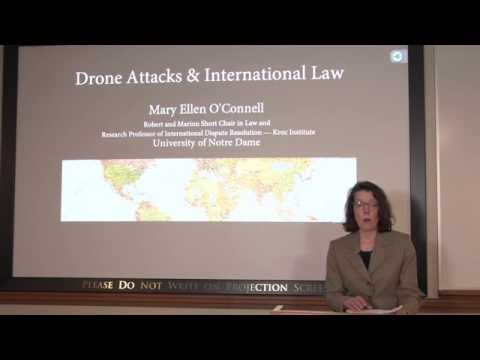 Dr. Mary Ellen O'Connell Speaks About Drone Attacks & International Law