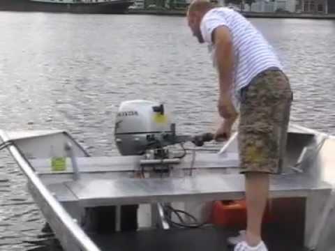Aluminium jon boot 6 meter 10 pk Honda 4 takt  aluminum jon boat 10 hp Honda 4 stroke