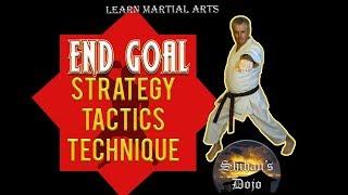 End Goals Strategy Tactics Techniques in the Martial Arts