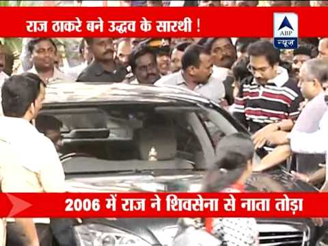 Raj thackeray drives Uddhav home from Lilavati Hospital