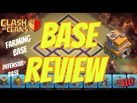 Clash of Clans Base Review! Town Hall Level 7 - Defensive Base - Farming Base