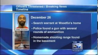 Aries Woodfin-CHI Nigger w/Sambo Earrings Threatens To Kill White Kids & Cops-Has Home Made Shooting