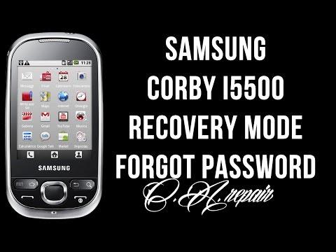 Segno Dimenticato Samsung Corby I5500   Telefono Bloccato   Recovery Mode video